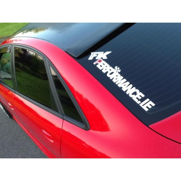 Fkperformance ie side windscreen decal large white red