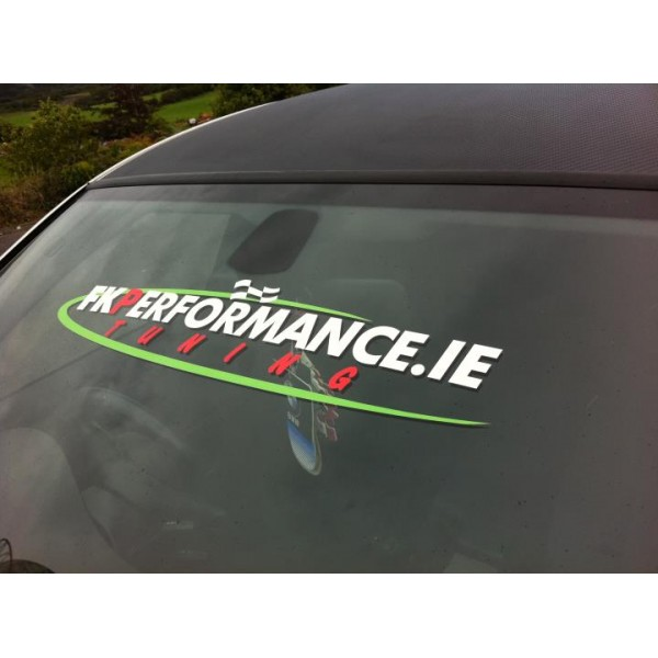 Fkperformance ie windscreen decal large white green