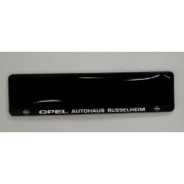opel autohaus number plate surrounds 1 pair. Black Bedroom Furniture Sets. Home Design Ideas