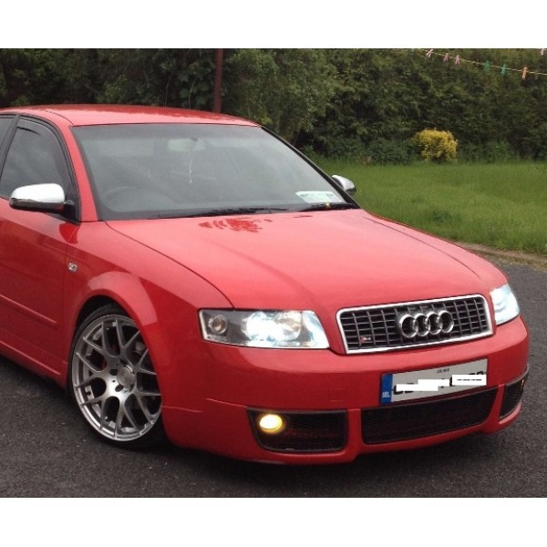 2001 2004 audi a4 b6 quattro kit front lip with 3 grills. Black Bedroom Furniture Sets. Home Design Ideas