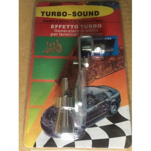 Universal turbo whistle sound for exhaust